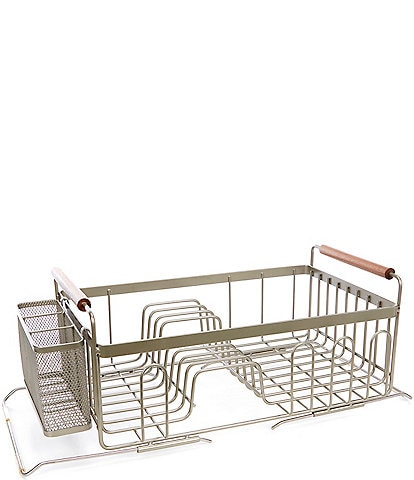 Southern Living Expandable Wire Dish Rack with Cutlery Holder