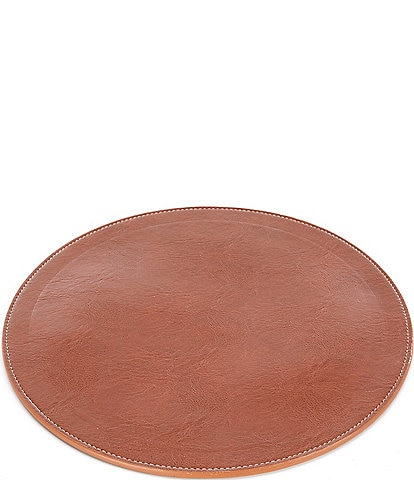 Southern Living Faux Leather 15#double; Round Charger
