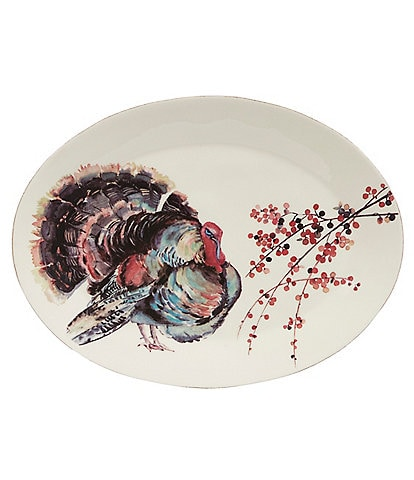 Southern Living Festive Fall Collection Turkey Oval Platter
