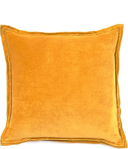 Southern Living Festive Fall Collection Velvet & Linen Oversize Square Pillow
