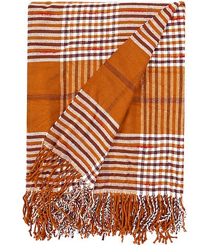 Southern Living Festive Fall Collection Wellington Plaid Throw