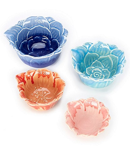 Southern Living Floral Measuring Cups, Set of 4