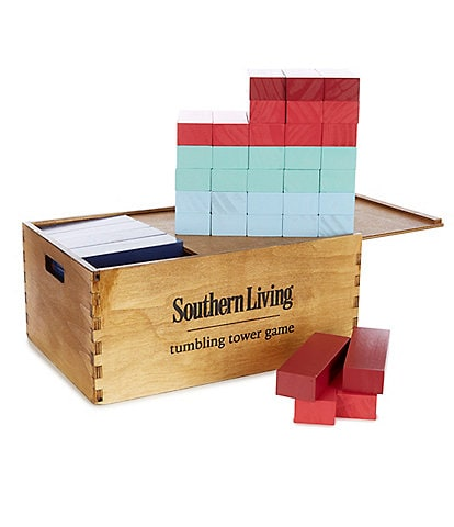 Southern Living Giant Wood Tumbling Tower Game