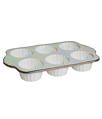 Southern Living Glazed 6-Cup Muffin Pan