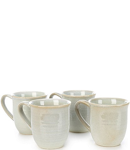 Southern Living Piper Collection Glazed Coffee Mugs, Set of 4