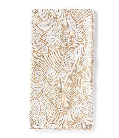 Southern Living Gold Foilage Print Kitchen Towel