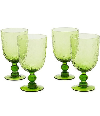 Southern Living Green Textured Goblet, Set of 4