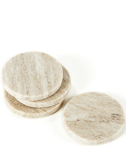 Southern Living Marble Round Coasters, Set of 4