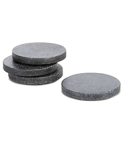 Southern Living Grey Marble Round Coasters, Set of 4