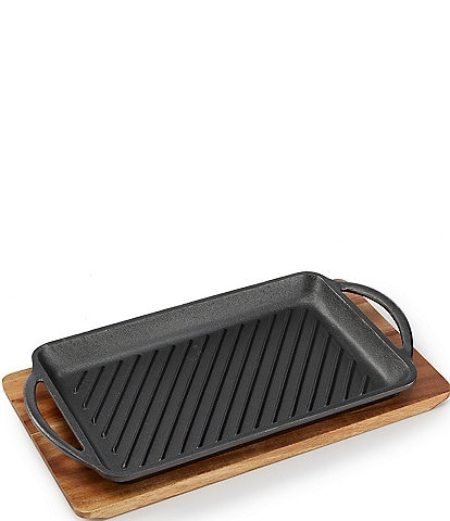 Southern Living Grill Pan with Wood Tray