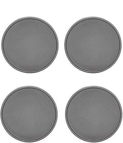 Southern Living Gunmetal Hammered Coasters, Set of 4