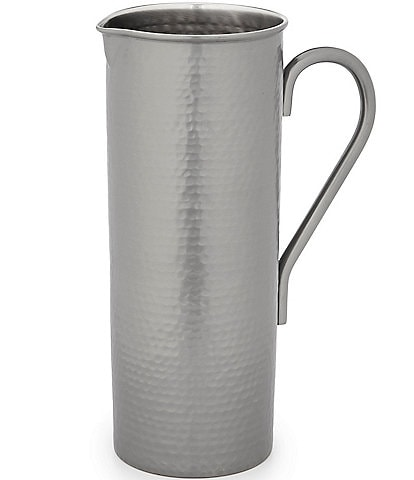Southern Living Gunmetal Hammered Pitcher