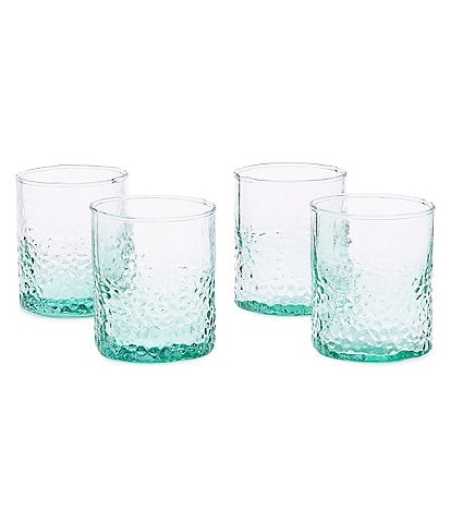 Southern Living Hammered Double Old-Fashion Glasses, Set of 4