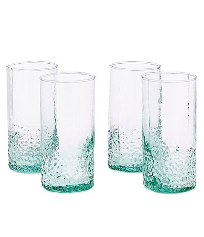 Southern Living Hammered Highball Glasses, Set of 4
