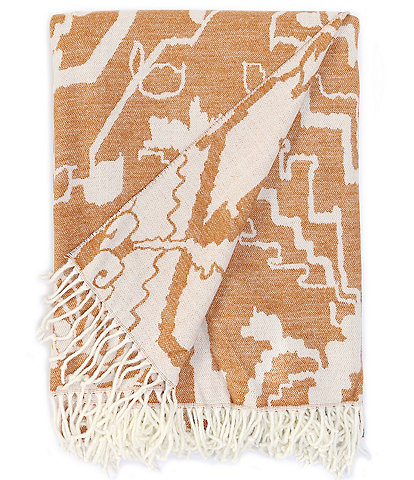 Southern Living Harlow Fringed Jacquard Throw