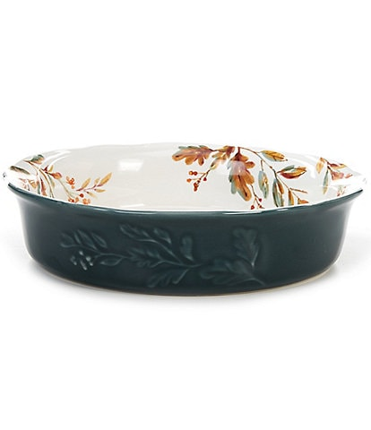 Southern Living Festive Fall Collection Glazed Pumpkin Pie Dish