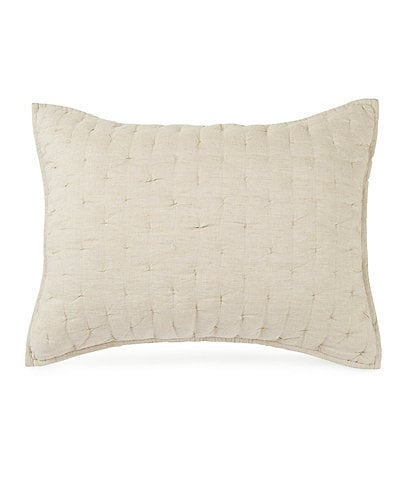 Southern Living Heirloom Quilted Distressed Linen Sham