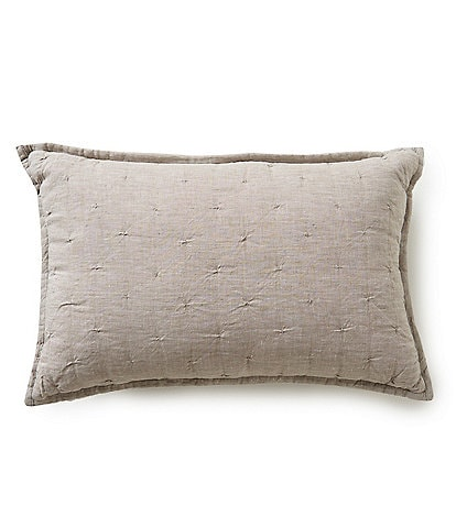 Southern Living Heirloom Quilted Linen Breakfast Pillow