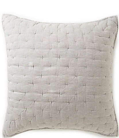 Southern Living Heirloom Quilted Linen Euro Sham