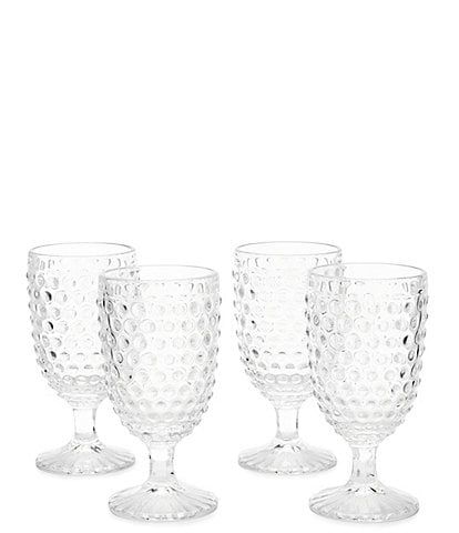 Southern Living Festive Fall Collection Hobnail Goblet Set of 4