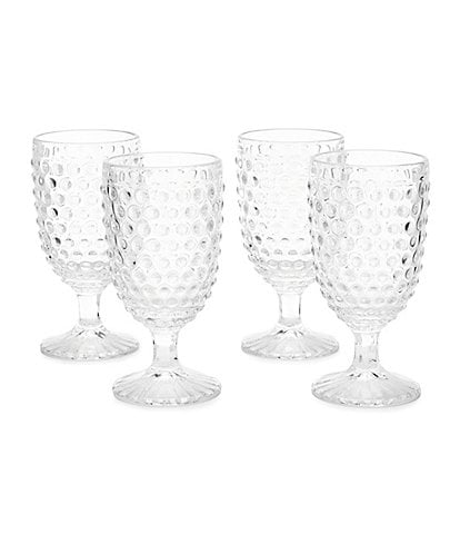 Southern Living Hobnail Goblet, Set of 4