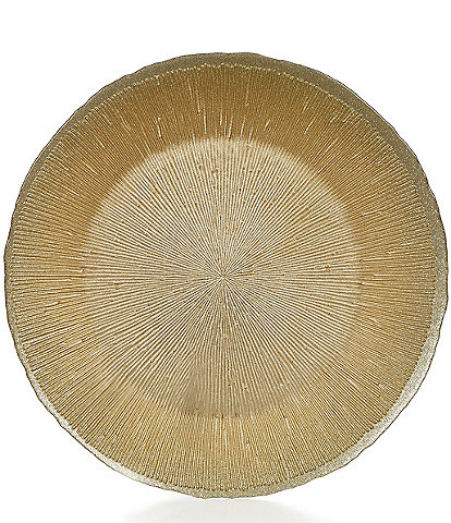 Southern Living Holiday 13#double; Gold Round Fusion Charger Plate
