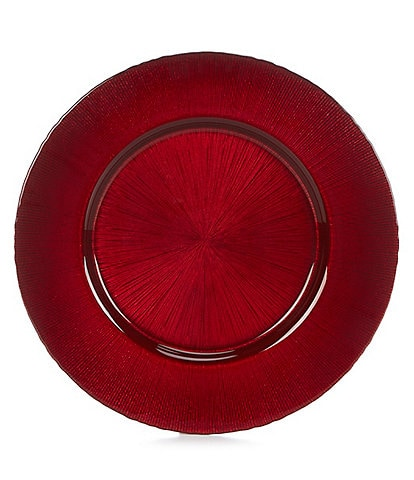 Southern Living Holiday 13#double; Round Glitter Charger Plate