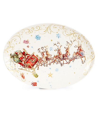 Southern Living Holiday Classic Santa Oval Platter
