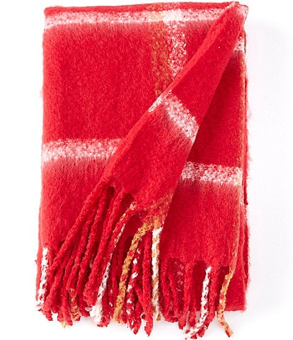 Southern Living Holiday Collection Clayton Plaid Throw