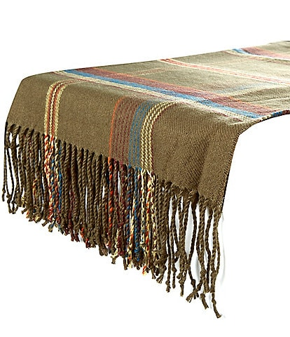 Southern Living Holiday Green Plaid Table Scarf