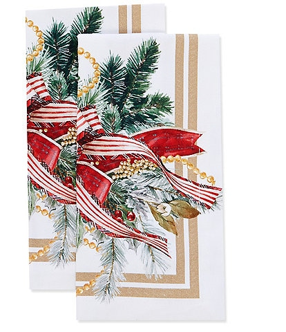 Southern Living Holiday Ornament Napkins, Set of 2
