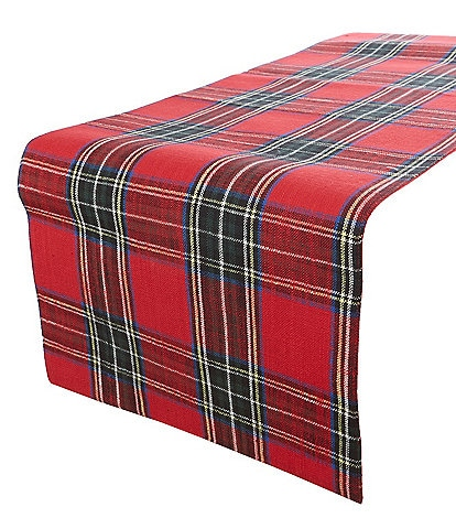 Southern Living Holiday Wallace Red Plaid 72#double; Runner