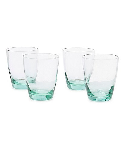 Southern Living Ibiza Recycled Double Old-Fashion Drinkware, Set of 4
