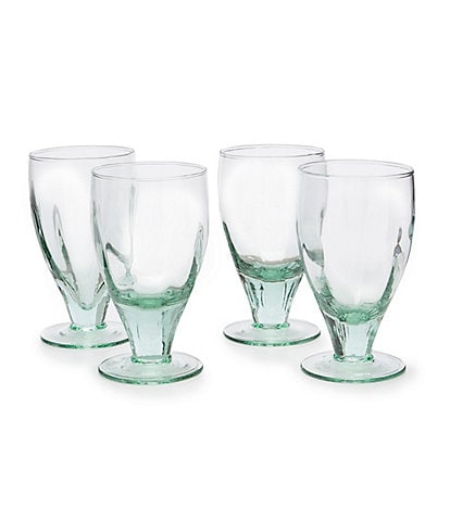 Southern Living Ibiza Recycled Glass Goblet, Set of 4