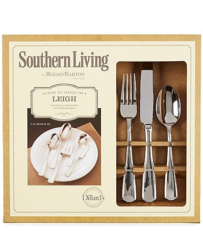 Southern Living Festive Fall Collection Leigh 45-Piece Stainless Steel Flatware Set