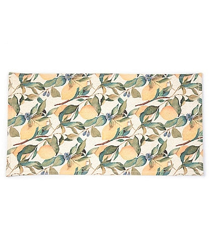 Southern Living Kitchen Solution Collection Lemon Print Kitchen Mat
