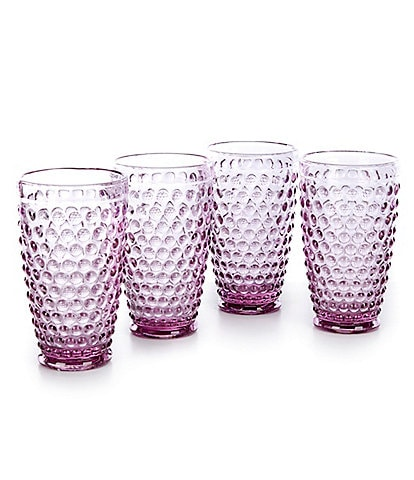 Southern Living Lilac Hobnail Tumblers, Set of 4
