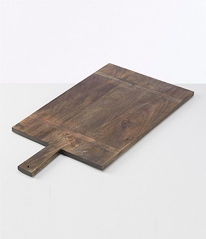 Southern Living Mango Wood Rectangle Paddle Serving Board