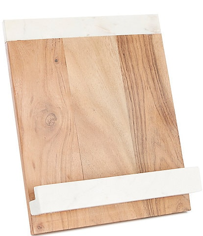 Southern Living Marble and Acacia Wood Cookbook Holder