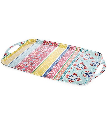 Southern Living Melamine Boho Brights Serving Tray
