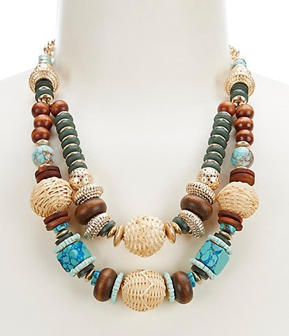 Southern Living Mixed Media Statement Necklace