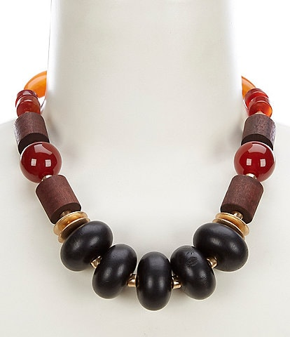 Southern Living Mixed Stone Statement Necklace