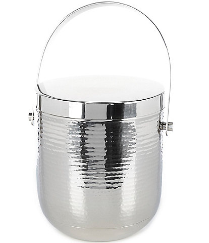 Southern Living Modern Stainless Steel Hammered Ice Bucket