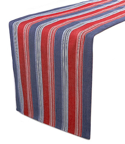 Southern Living Narrow Stripe Fringe 72#double; Runner