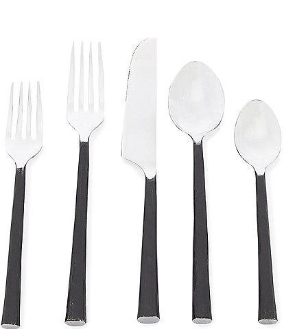 Southern Living Textured 20-Piece Stainless Steel Flatware Set