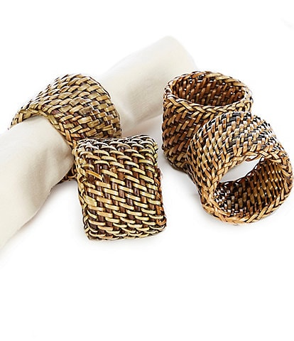 Southern Living Nito Napkin Rings, Set of 4
