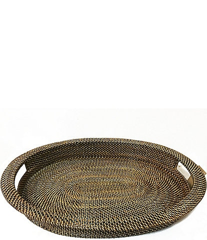 Southern Living Spring Collection Nito Woven Oval Serving Tray with Handles
