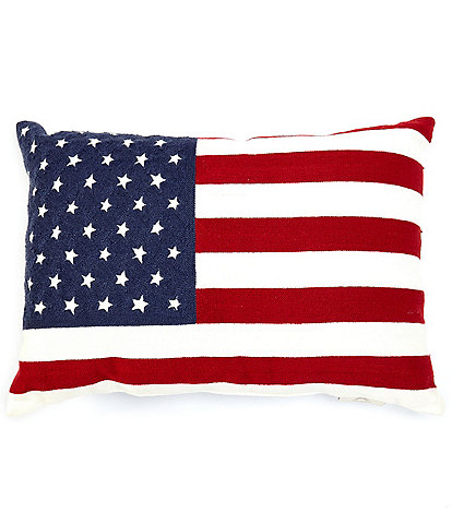 Southern Living Outdoor Living Collection American Flag Indoor/Outdoor Pillow