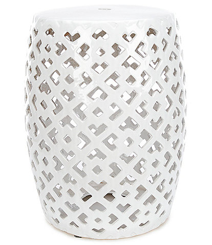 Southern Living Outdoor Living Collection Ceramic Stool
