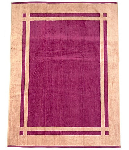 Southern Living Outdoor Living Collection Criss Cross Colorblock Velour Beach Towel